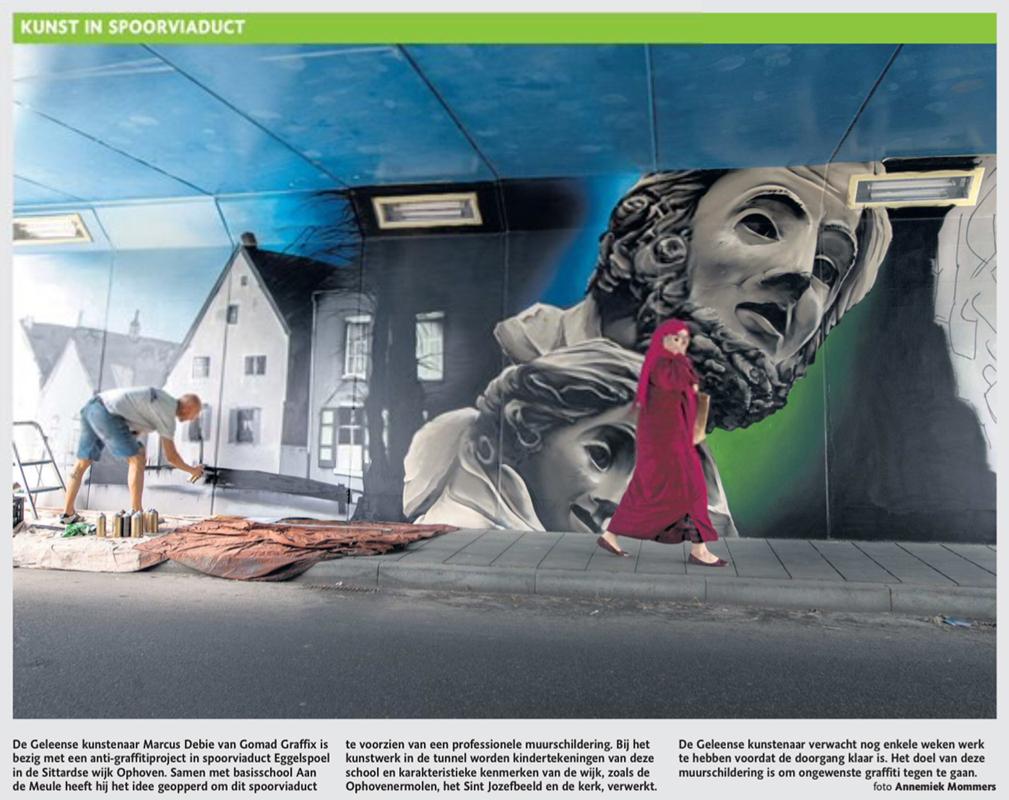 Kunst in spoorviaduct