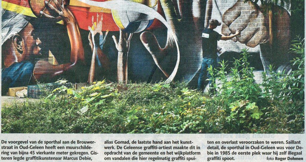 Muurschildering tegen ongewenste graffiti