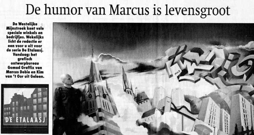 De humor van Marcus is levensgroot