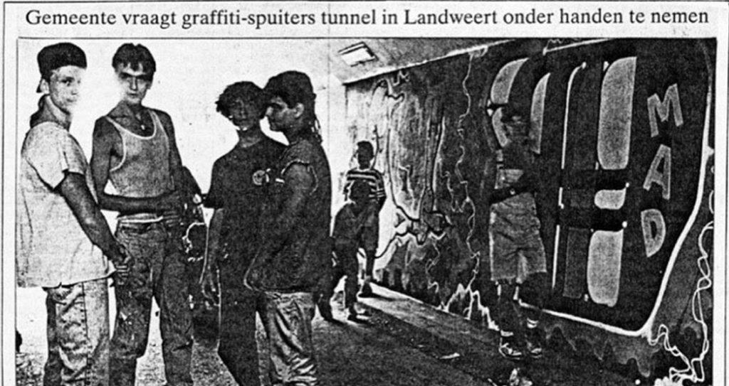 Gemeente vraagt graffitispuiters tunnel Landweert onder handen te nemen