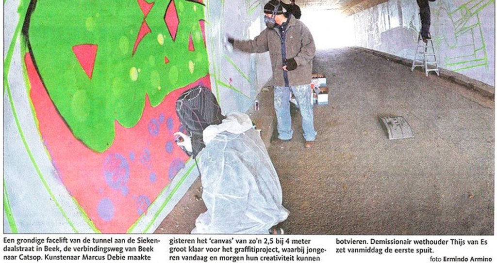 Anti-graffiti project Beek in de krant