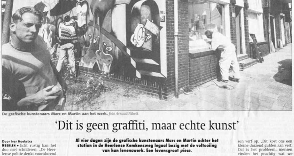 Dit is geen graffiti, maar echte kunst