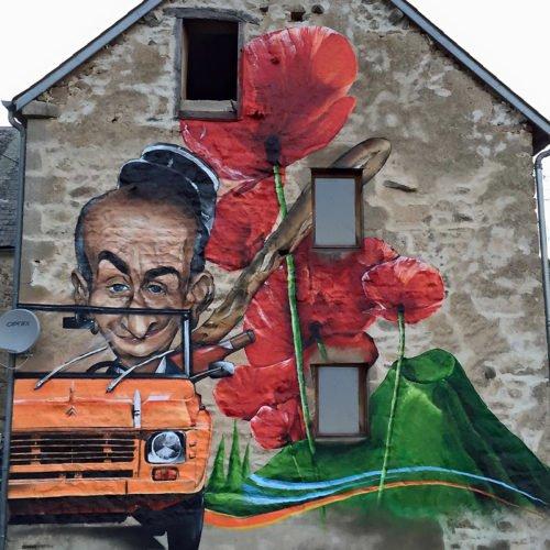 muurschildering auvergne frankrijk
