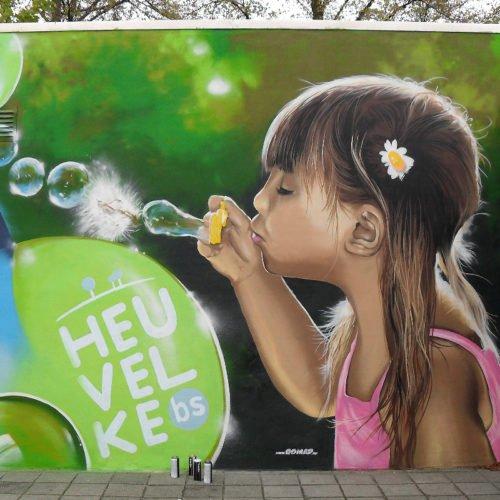 muurschilderingen graffiti basisschool heuvelke geleen