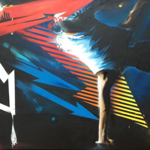 muurschildering dansstudio rick schmitz elsloo