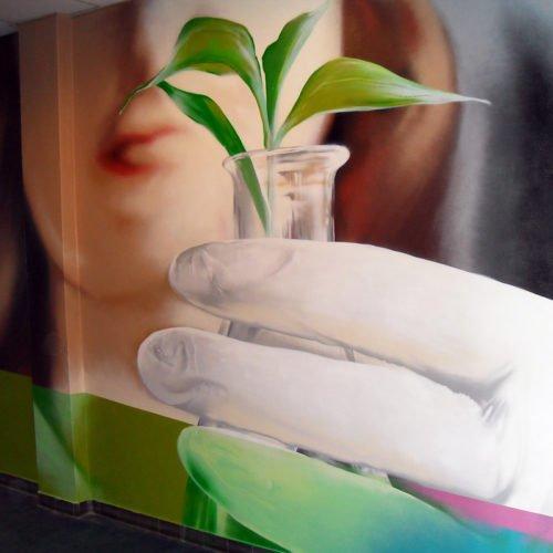 muurschildering dsm gang geleen