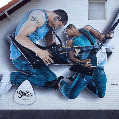 muurschildering stella's muziekstudio puth
