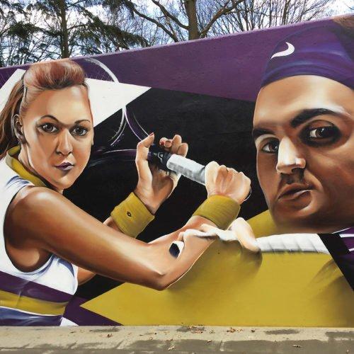 muurschildering tennisclub ready maastricht