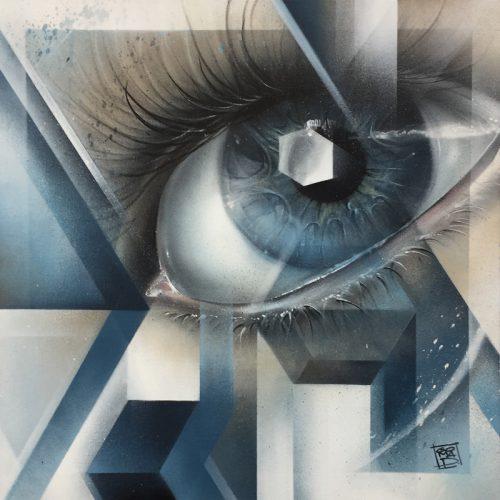 graffiti sobre lienzo
