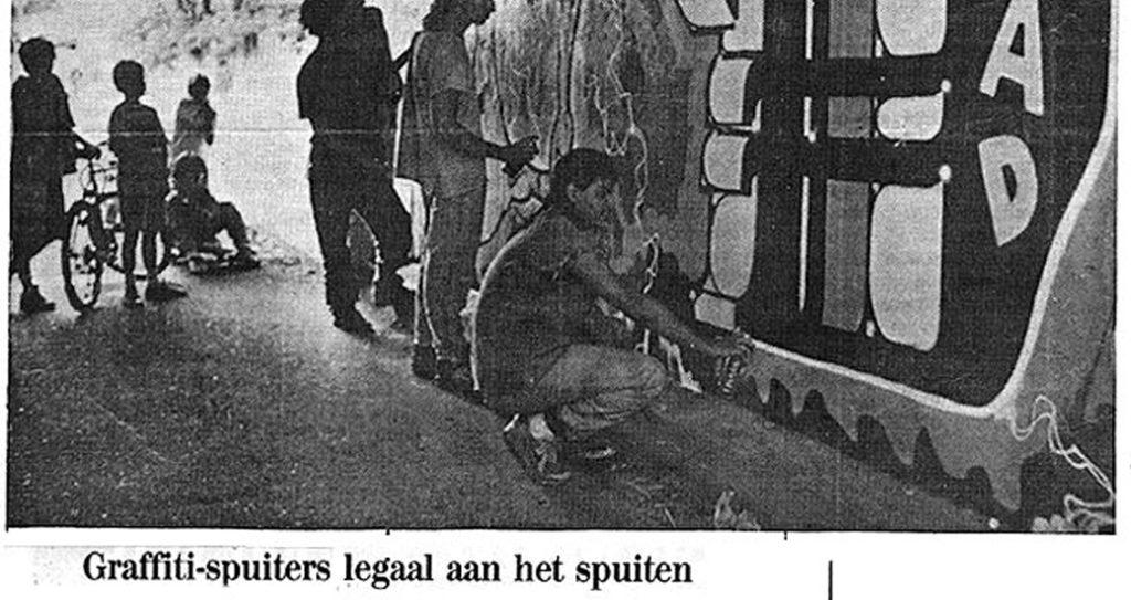 Graffiti spuiters legaal aan het spuiten