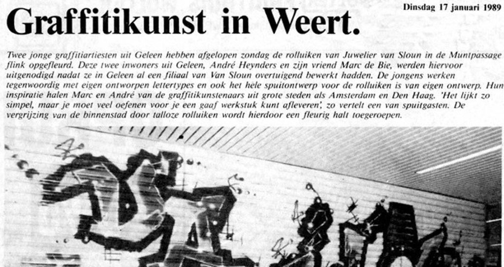 Graffiti kunst in Weert