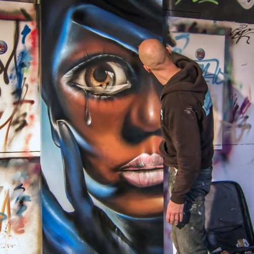 live painting graffiti canvas sr16 heerlen