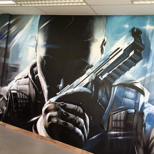 muurschildering cod unit 13 entree sittard