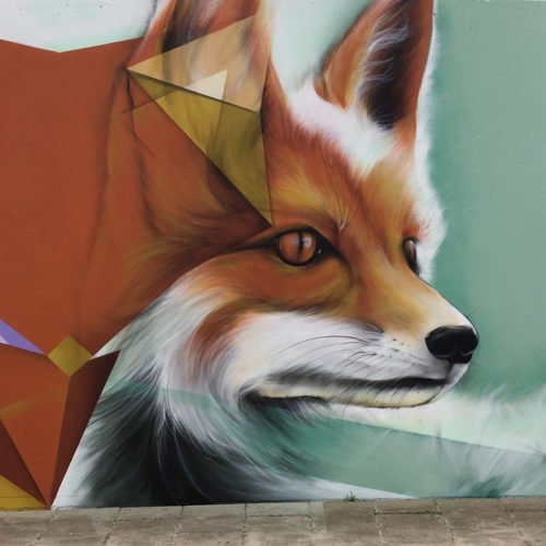 Graffiti en muurschilderingen fietstunnel Goirle