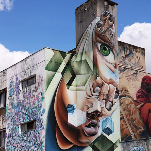 vrij werk mural hotel128 streetart city France