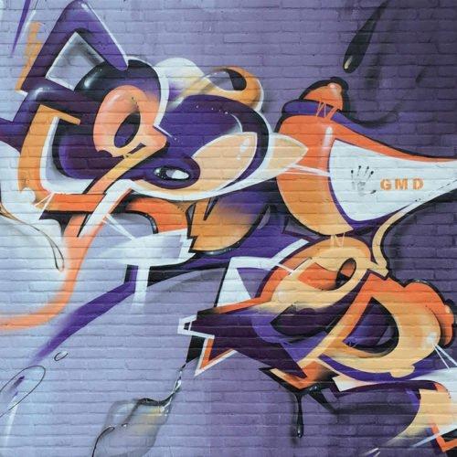 graffiti muurschildering GOMAD Sittard
