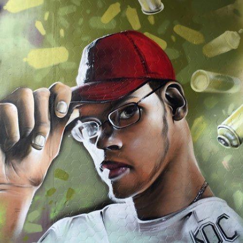 graffiti muurschildering ibe16 heerlen bboy lilou
