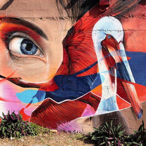 urban art mural miami wynwood pelican GOMAD