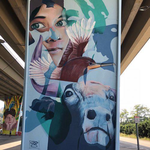 mural mira mir festival Barcelona marcus gomad debie