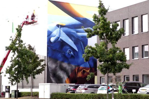 das größte mural in den Niederlanden