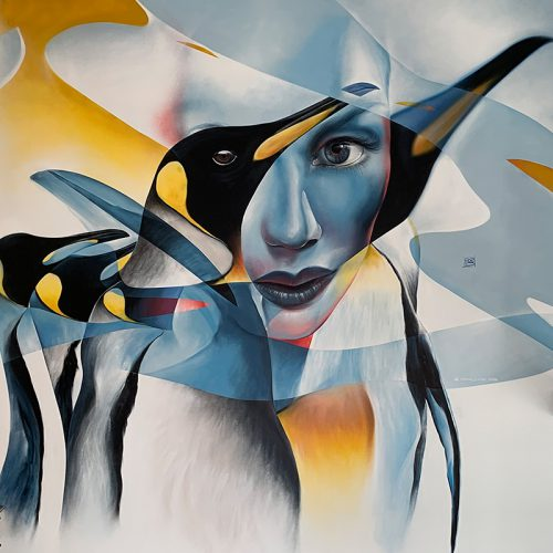 vrij werk street art in luxe loft Marcus GOMAD Debie