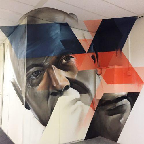 graffiti muurschildering stadskantoor heerlen anamorphic