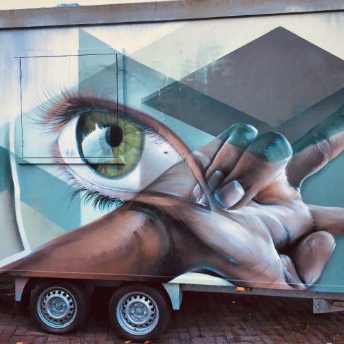 streetart schildering bouwkeet gemeente heerlen graffitipreventie