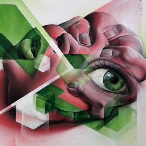 graffiti auf Leinwand Kus Kultur-Späti Berlin