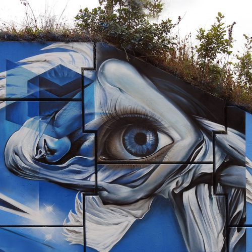 graffiti muurschildering engel festival marcus gomad debie