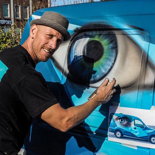graffiti op auto pow wow rotterdam festival marcus gomad debie