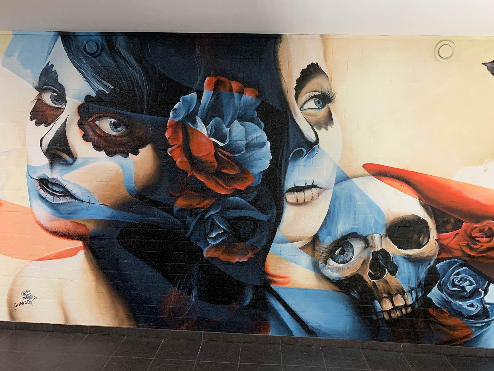 urban art Mexican skull Roermond