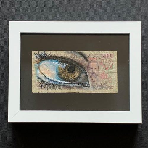 banknote 2000 vietnam dong eye art oilpaint streetart