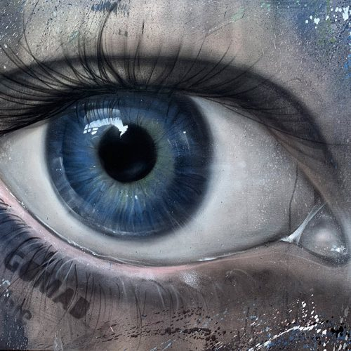 graffiti eye canvas painting Miami