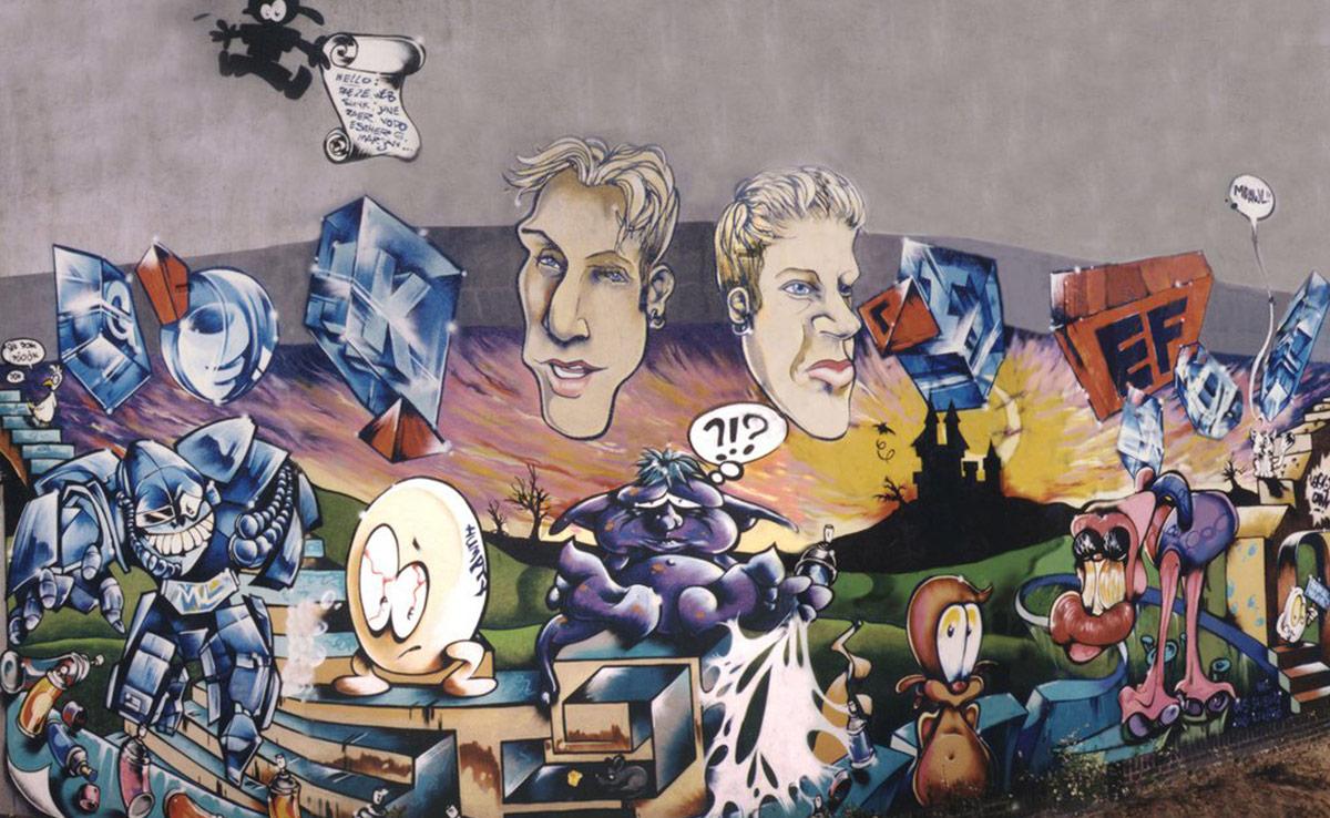 gomad old school graffiti 1997 station heerlen