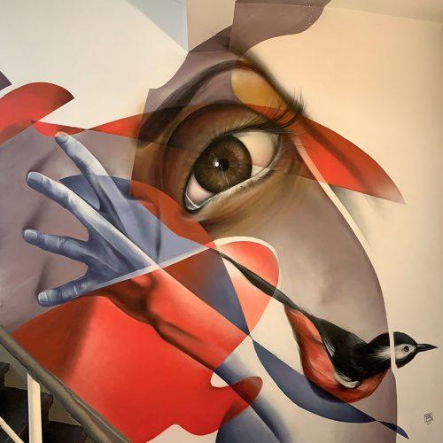 gomad muurschildering mural berlin staircase init