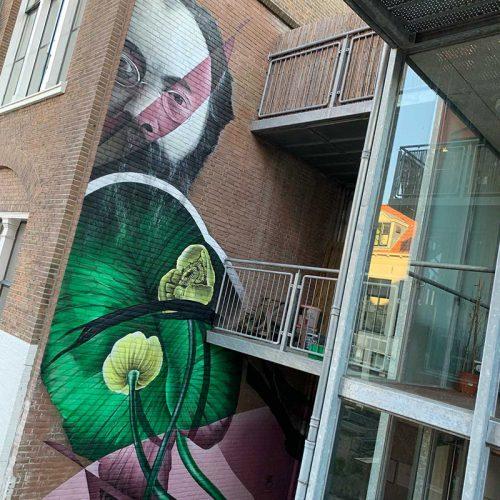 gomad muurschildering mural deventer street art streets adwaita